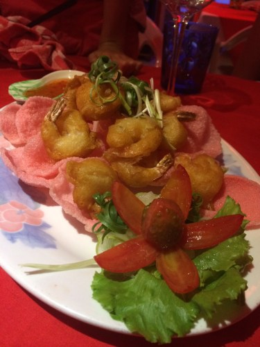 Deep-Fried Prawn: 1800 vt or about AUS$20.00