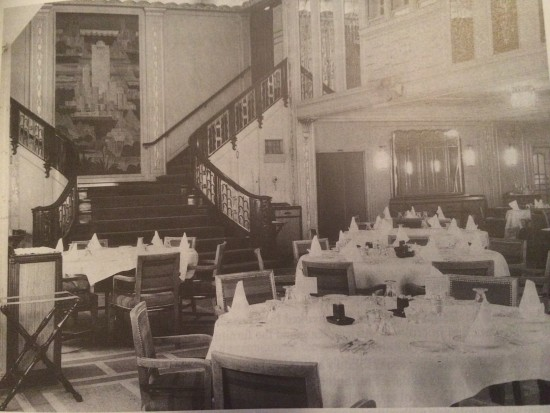 The luxury liner's dining room