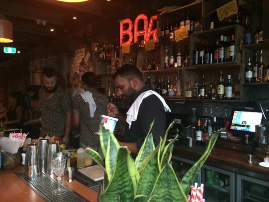 Bar action