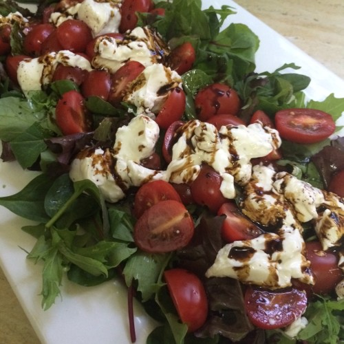Tomato and labneh salad