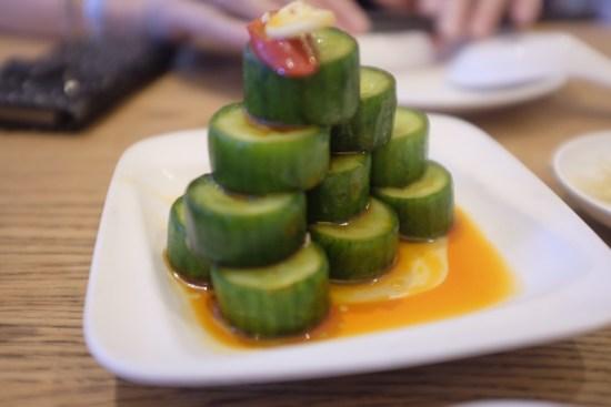 Cucumber Salad in Vinaigrette Dressing:  $6.80