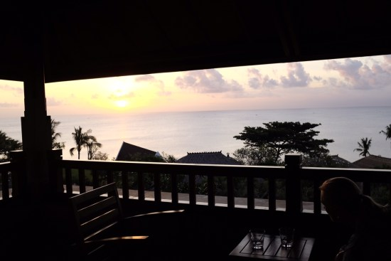 View from our oceanfront room.