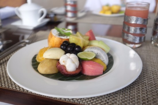Tropical fruit platter.