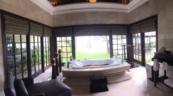Beachfront villa bathroom