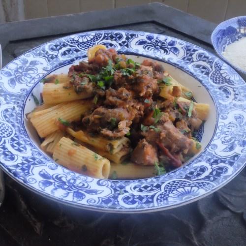 Serve with pasta