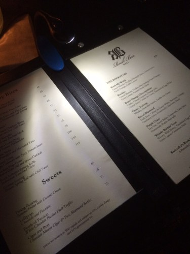 The menus arrive with torches attached