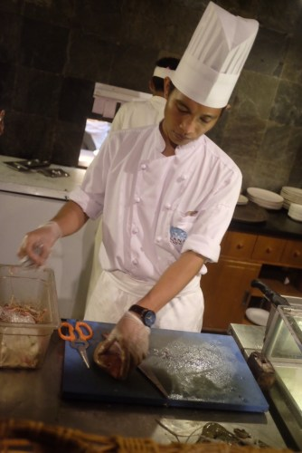 A chef at work