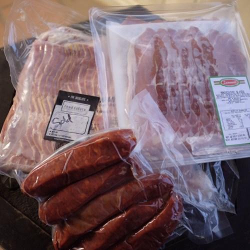Bacon, prosciutto and chorizo