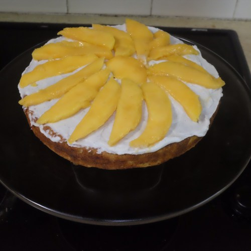 Mango slices in the middle