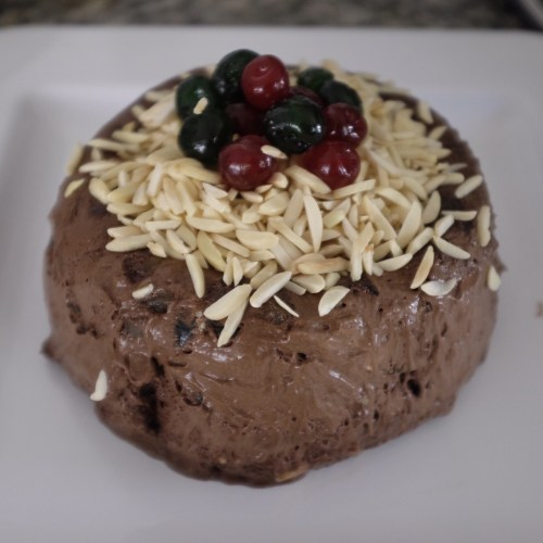 Frozen Chocolate Christmas Pudding