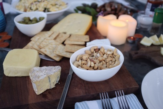 Cheese and nut platter