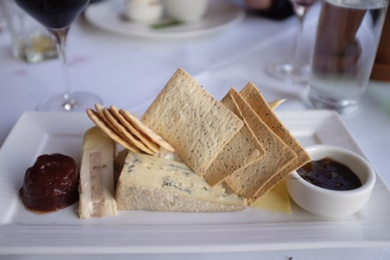 A selection of premium international and Australian cheese, crackers, apple chutney, quince paste
