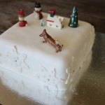 Christmas Cake with Snowflakes