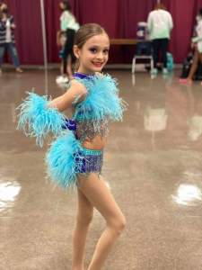 It's Oh So Quiet Custom Musical Theater Dance Costume with Ostrich Feathers