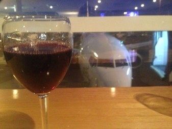 waiting at the airport wine airplane, red wine australia