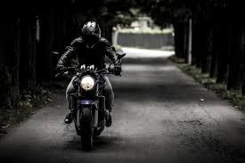 Australian men on a motor bike