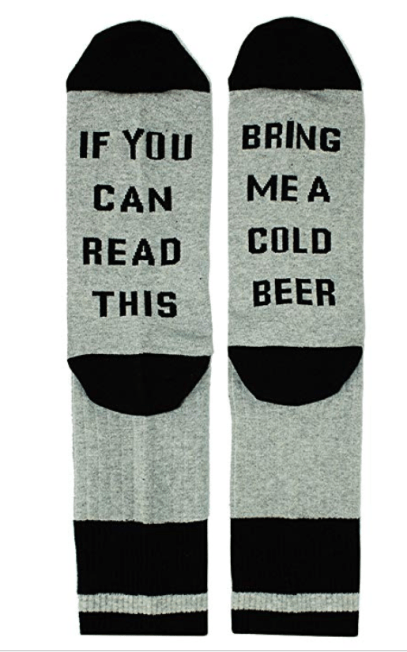 funny socks bring me beer fathers day gift