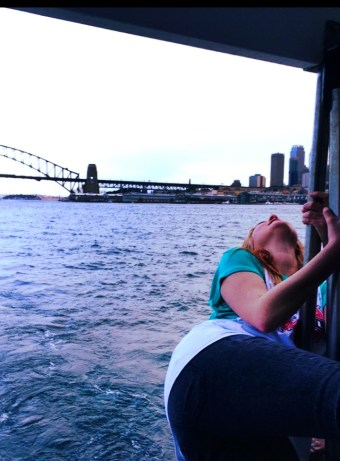 Boat ride on the Sydney harbor