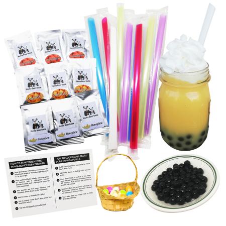 Instant boba tea kit, mama bear boba