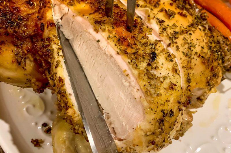 Dutch-Oven-Roasted Herb Chicken