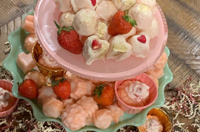Pink Champagne Cake Bites