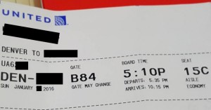 united airline ticket
