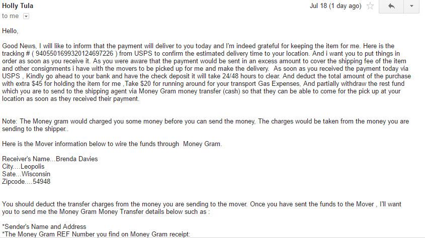 Craigs List Email