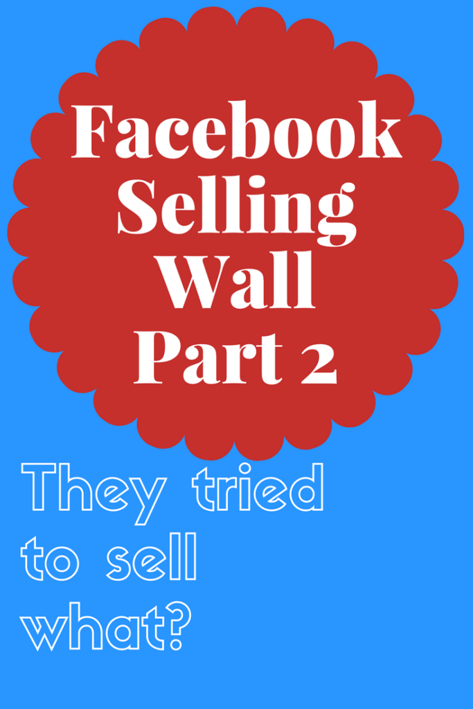 Facebook Selling Wall Part 2