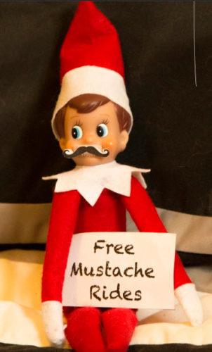 mustache elf