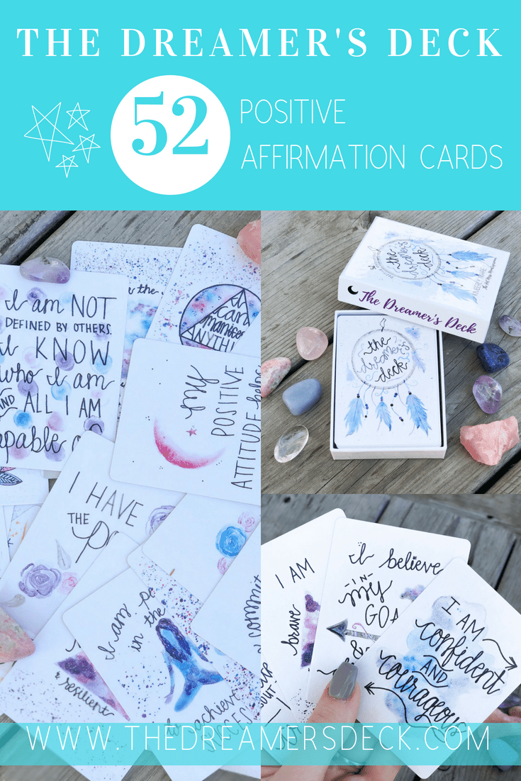 image about Free Printable Affirmation Cards known as Optimistic Confirmation Playing cards: The Dreamers Deck - Sizzling Mess