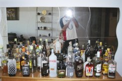 The Club #203 liquor cabinet. Duty Free excess :)