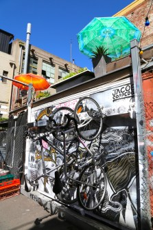 Inspirational Melbourne walking street-art tours of Melbourne with Hot & Delicious: Rocks The Planet