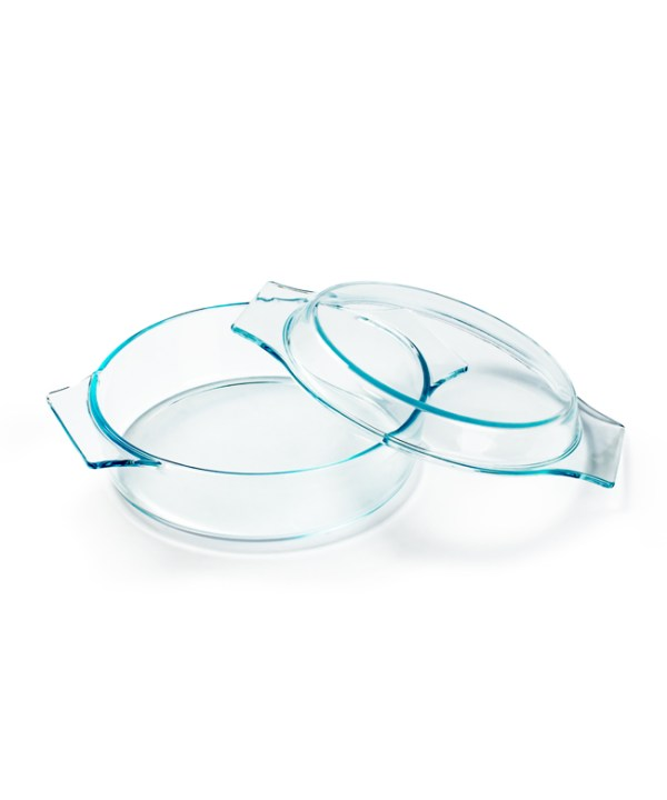 Tempered Glass Bowl with Cover (Medium)