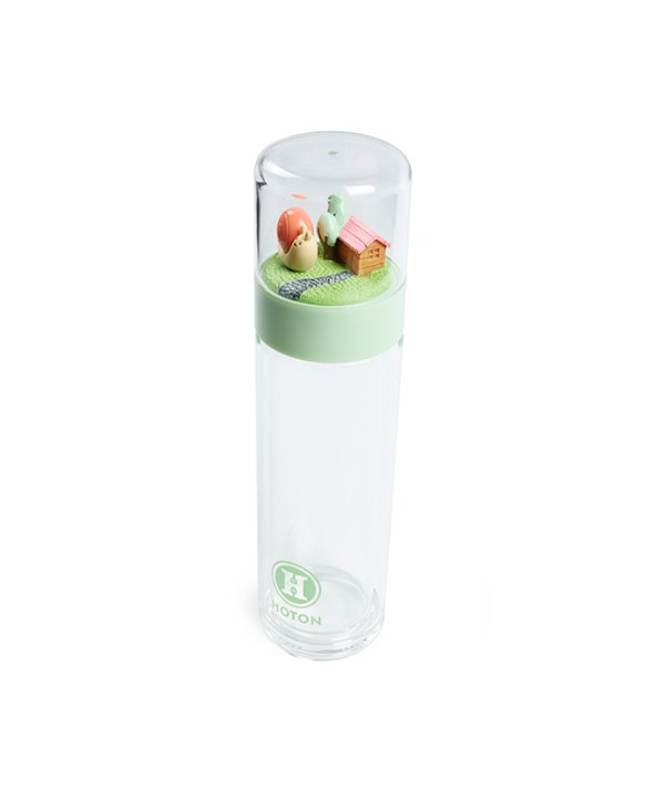 Double-Wall Glass Tumbler (Green)