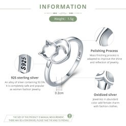 sterling cat ring
