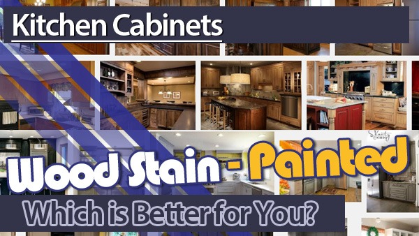 Stain or Paint Kitchen Cabinets