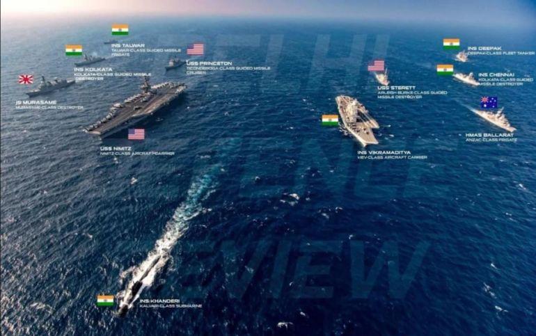 美印双航母首次演习,让印媒兴奋不已:与世界最强航母并肩作战
