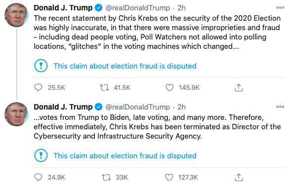 一言不合就炒人:特朗普解雇否认选举阴谋论的网络安全局长