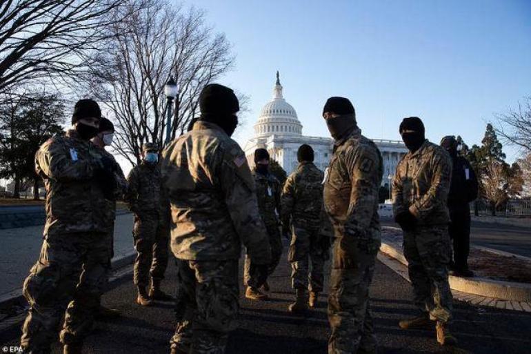 美国国民警卫队成员抵达美国国会大厦(图源:外媒)