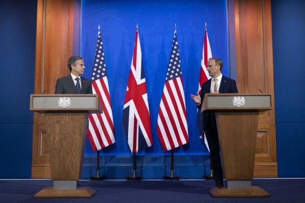 """外媒:美英外长称""""我们的目的不是试图遏制或压制中国"""""""