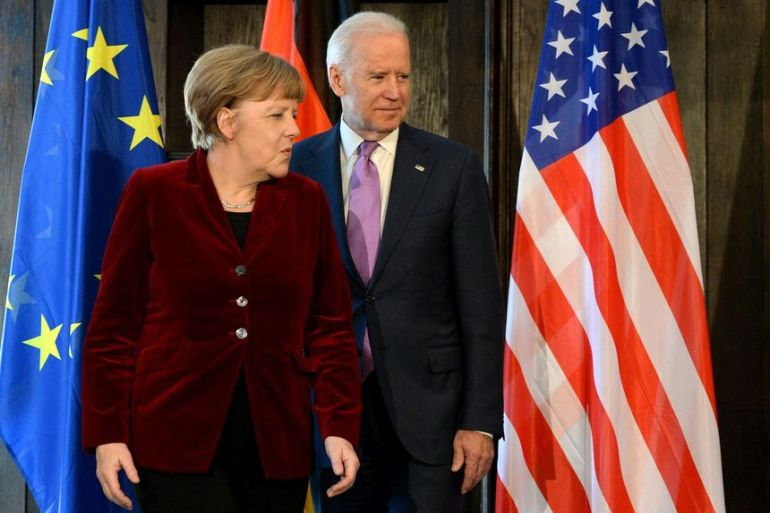 美国言而无信,制裁北溪2号工程,德国政坛或变天,拜登得寸进尺