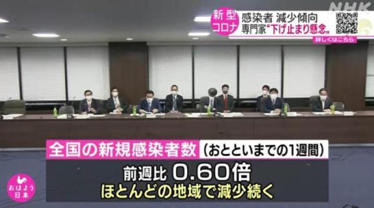 日本专家会议:单日新增确诊病例数已降至今春前的水平