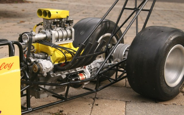 Stinger in dragster chassis