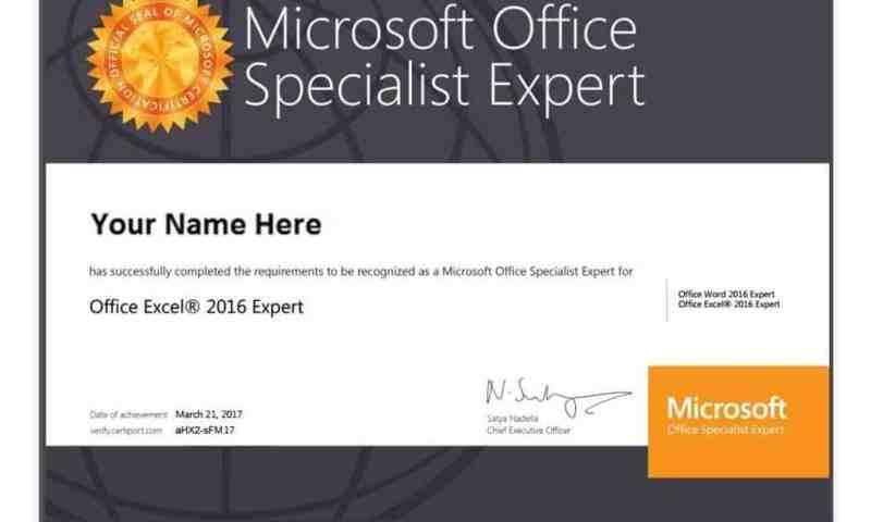 Microsoft Office Specialist – MOS, bạn đã biết?