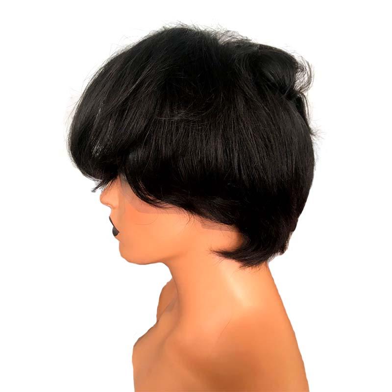 Short Pixie Cut Full Lace Wig Human Hair Natural Black Hotsalehair Hair Extensions Wholesale