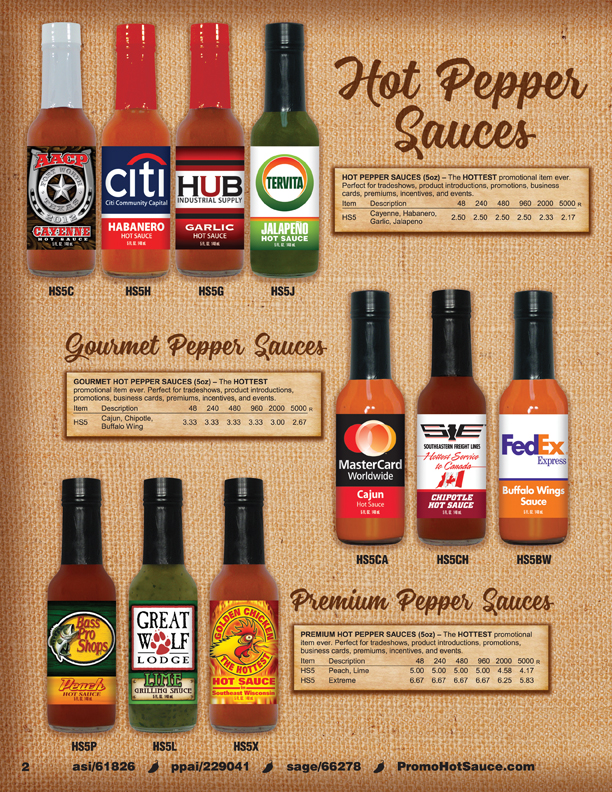 Page 2 - Hot Pepper Sauces