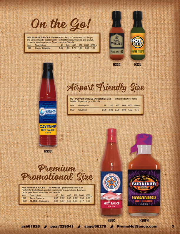 Page 3 - Hot Pepper Sauces