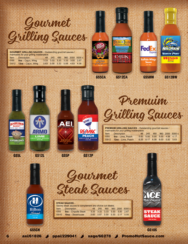Page 6 - Grilling Sauces, Steak Sauces