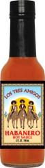 HS5H - Habanero Hot Sauce (5oz) - Restaurant - Los Tres Amigos