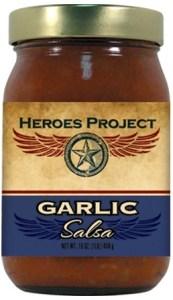 S16G - Garlic Salsa (16oz) - Charity - Heroes Project